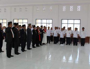 Pelantikan dan Pengambilan Janji Pejabat Pimpinan Tinggi Pratama dan Pejabat Administrator di Lingkungan Pemerintah Kabupaten Nias Utara